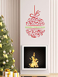 Botanical Christmas Words & Quotes Florals Holiday Abstract Fantasy Wall Stickers Plane Wall Stickers Decorative Wall Stickers Material