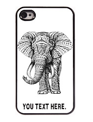 Personalized Case Elephant Design Metal Case for iPhone 4/4S