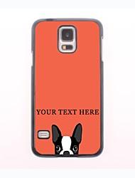 caso de telefone personalizado - cão caso design de metal para Samsung Galaxy S5