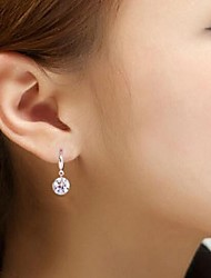 argent gros diamant earrings10mm nue