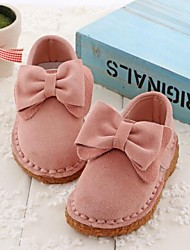 Girls' Shoes Round Toe Flat Heel Loafers with Bowknot More Colors available