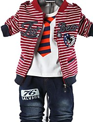 Children's Clothing Boys Three Pieces Sets Baby Set Boy Suit Tshirt and Jacket Pants