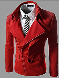Playgame Men's Casual Wide Lapel Neck Coat