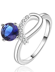 Women's Silver Ring Cubic Zirconia Silver