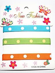 3/8 de pouce d'encre d'impression de ceinture polyester thoracique dot un point ribbon- une verges par rouleau (trois couleurs une carte)