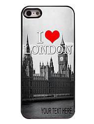 Personalized Case I Love London Pattern  Metal Case for iPhone 5/5S