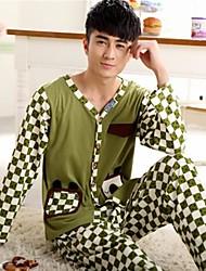 à double coton peigné manches longues ouvertes trop confortables costumes de vêtements de loisirs pour hommes