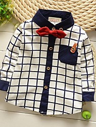 Boy's Grid Tie Shirt