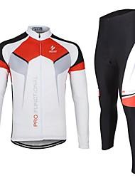 arsuxeo ciclismo Maglia manica lunga vestiti traspiranti (tops + pants) per la primavera estate autunno
