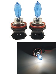 Carking™ HOD H8 100W 6000K Ultra Bright Car Warm White Light Bulbs (DC 12V/Pair)