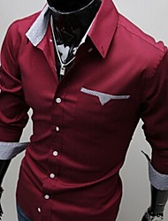 camisa cabida clássico grandes Moda Masculina