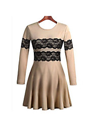 Women's Dresses , Cotton Blend Bodycon/Casual Belt