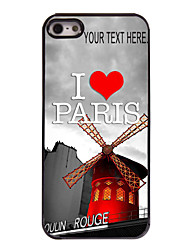 Personalized Case I Love Paris Design Metal Case for iPhone 5/5S