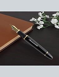 caixa de couro dom de negócios personalizado definido com caneta lnk aço inoxidável (preto ou ouro)