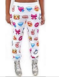witte vrouwen emoji joggers broek grappige 3D printen jogger broek