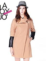 manchon de couture poitrine les volets des femmes haoduoyi® avec le manteau de la mode à glissière