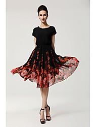 la mode la robe imprimée floral décontracté ls femmes