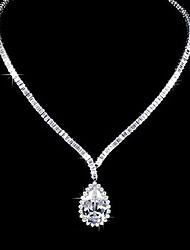 мода элегантной роскоши капель ранга AAA циркон свадебный ожерелье