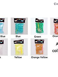 600pcs color arcobaleno telaio in metallo color banda telaio divertimento (1package s Clip + 1pcs gancio, colori assortiti)