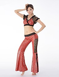 Belly Dance Practice Costume with Snake Print Elegant Outfits