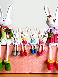 сидя Пасхальный кролик коллекционные набор, 6шт / комплект
