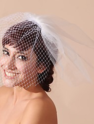Tulle And Satin Wedding/Party Blusher Veils