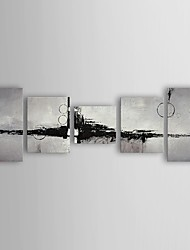 pintura al óleo abstracta moderna radio conjunto de lienzos pintados 5 mano con el marco de estirado