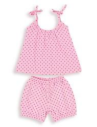 Girl's Clothing Set,Cotton Summer Pink