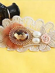 Handmade Heart of Desert Fake Topaz White  Sweet Lolita Hairpins