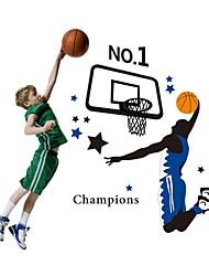 stickers muraux stickers muraux, style de jeu de basket-ball pvc stickers muraux