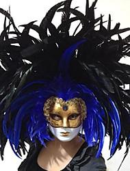 gothique duchesse masque vénitien déco avec plume de paon