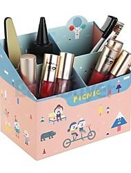 DIY Paper Makeup Cosmetic Storage Box Desk Organizer Kids Birthday Gift Wedding Baby Shower Return Favors