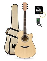 Spruce & Sapele Dreadnought Acoustic Guitar Cutway Natural+Accessory Pack