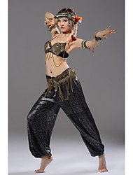 Belly Dance Performance Bra Metals Decorated Tribal Style Sequins Top