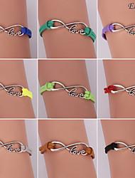 eruner®fashion сплав любовные бесконечные прелести браслеты ручной работы (разные цвета)