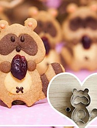 5 Pieces Cartoon Raccoon Shape Cookie Cutters Set, Stainless Steel