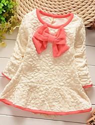 mode pure coton col rond robe de fille