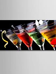 e-home® arte lona esticada decoração copo de vinho pintura