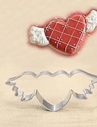 amor alas forma cortador de galletas, de acero inoxidable de San Valentín