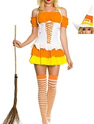 orange et les costumes d'Halloween de White Witch femmes