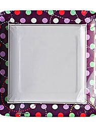 modello colorato punto di carta usa e getta piatti 20pcs / bag