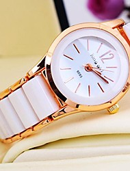 Women's Round Dial Rose Gold Ceramic Band Quartz Bracelet Watch (Assorted Colors) Cool Watches Unique Watches Fashion Watch
