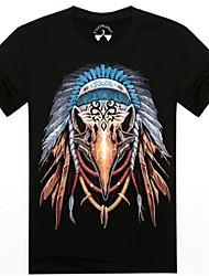 mannen o-hals zomer adelaar dier 3d gedrukte korte mouw t-shirt