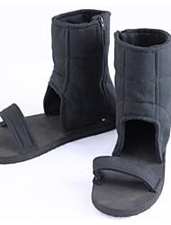 Zapatos de Cosplay Naruto Cosplay Animé Zapatos de cosplay Negro Poliéster Unisex