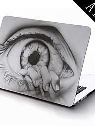 o desenho dos olhos de todo o corpo caixa de plástico de proteção para 11 polegadas / 13 polegadas novo Mac Book Air
