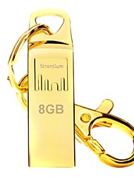 Strontium Gold Plated USB Flash Drive 8GB with Metal Key Chain