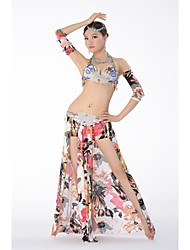 Belly Dance Stage Performance Egypt Luxuriant Outfits - Set of 3 (Top, Skirt and Armwear)