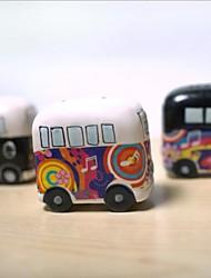 cerâmica pintura pote ônibus aromatizante, cerâmico 6,5 × 5 × 7 cm (2,6 × 2,0 × 2,8 polegadas) cor aleatória