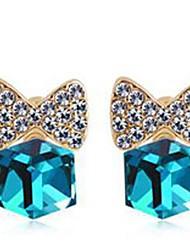 vender rhinestone así aleación y pendientes de la manera de cristal (más color)