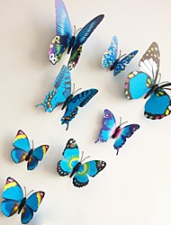 Wall Stickers Wall Decals, Blue Magnetic Butterfly Sticker PVC Wall Stickers.